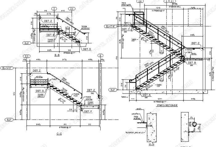 Structural Engineering Drawings : Structural cad drafting detailing services advenser uae